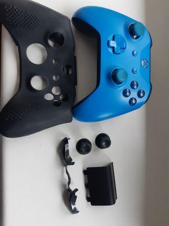 Pad do xbox one niebieski + części zapasowe + etui