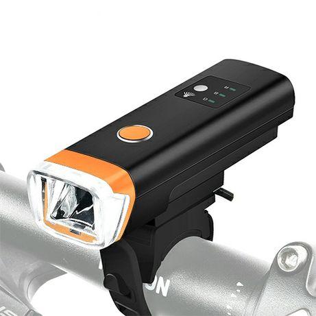 Велофара фара велосипедная датчик света встроенный аккумулятор hj 047