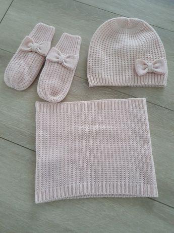 Komplet hm 128 czapka,szalik,rękawiczki