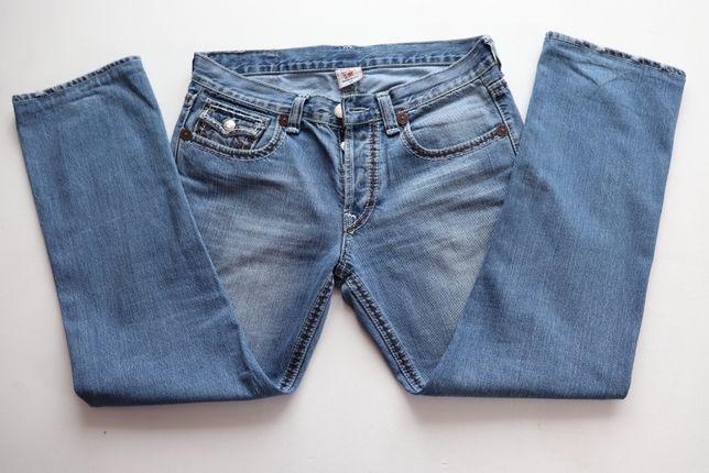 Luksusowe męskie spodnie jeansy True Religion W34 L33 jak nowe USA 33