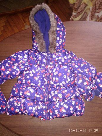 Курточка демісезонна 0-6 місяців , шапочка в подарунок