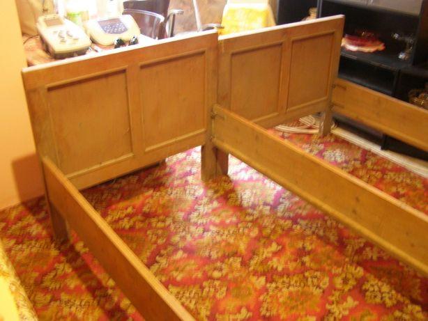 stare łóżko drewniane - dąb i sosna