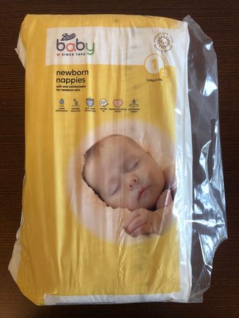Підгузки Boots Baby Newborn Nappies, розмір 1 (2-5кг)