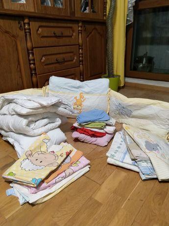 Kołdry+pościel+ochraniacz na łóżko niemowlak