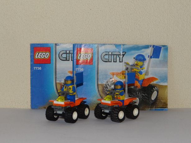 LEGO CITY - dwa zestawy 7736 Quad straży przybrzeżnej