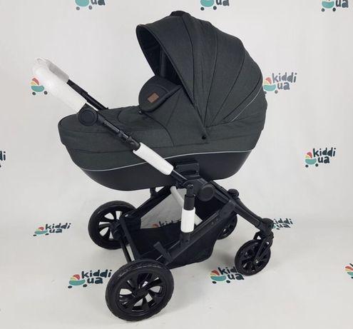 Универсальная коляска коляска 3в1 Prinny темно серый