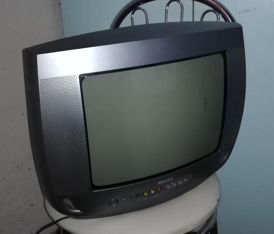 stary telewizor philips 14 cal
