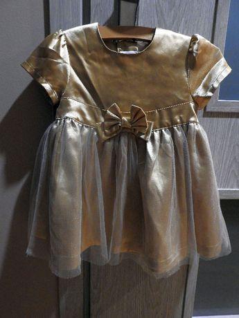 złota sukieneczka H&M