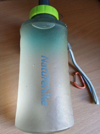 Naturehike 750 мл складна м'яка пляшка бутылка ТПУ безпечна + карабін
