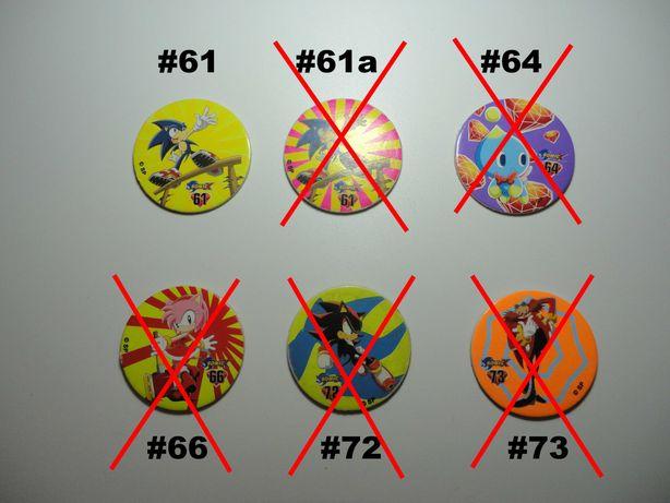 Brindes Bollycao Bimbo Tazos Caps Sonic Sega – Portes Grátis