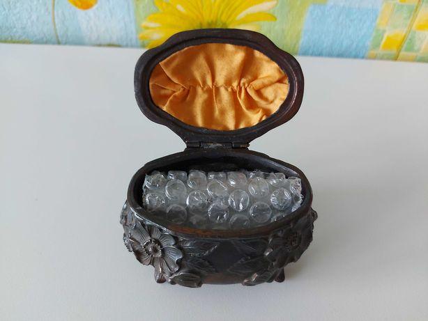 Szkatułka antyk na biżuterię