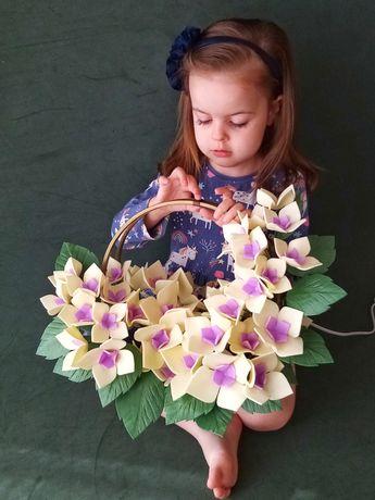 Светильник-ночник ручной работы, цветок-светильник