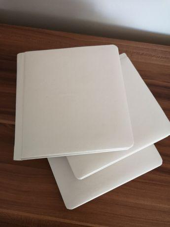 Etui białe skórzane na płyty weselne i inne pudełko cd