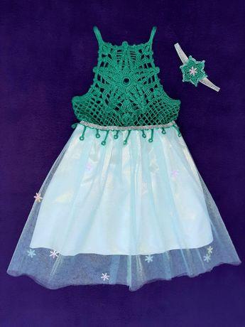 Костюм платье снежинки на утренник
