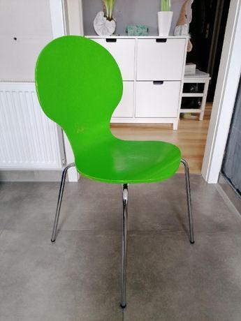 2x Krzesło zielone gięta sklejka