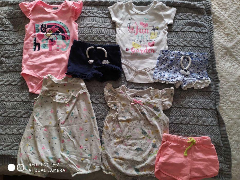 Zestaw rzeczy na lato dla dziewczynki 74-80 Łubnica - image 1