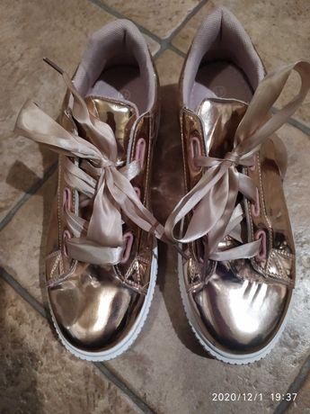Buty , złote trzewiki, adidasy