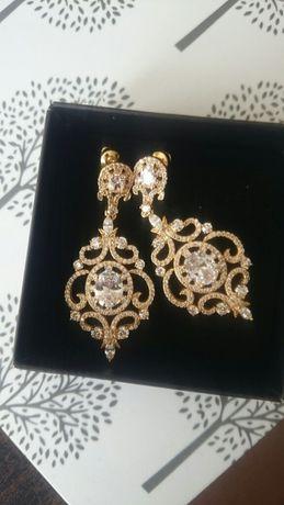 Novia Blanca ślub kryształki Hebe gold Swarovski złote
