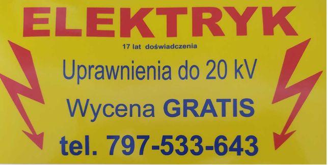 Elektryk- Radzymin, Tłuszcz, Klembów, Dąbrówka, Wołomin, Ząbki, Marki,