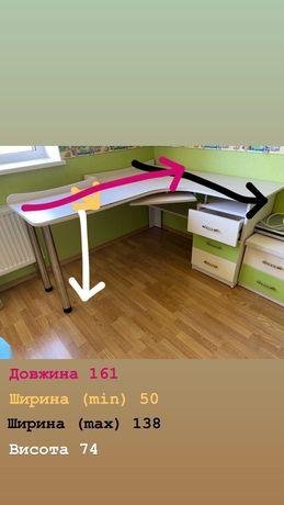 Письмовий стіл з натурального дерева у КЛАСНОМУ стані!