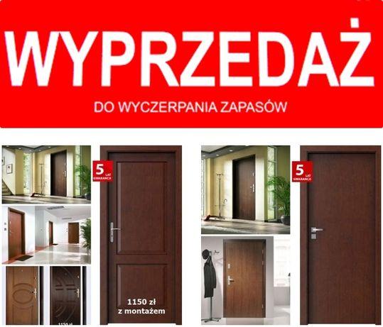 Drzwi z montażem. ZEWNĘTRZNE- wejściowe ,wewnątrzklatkowe