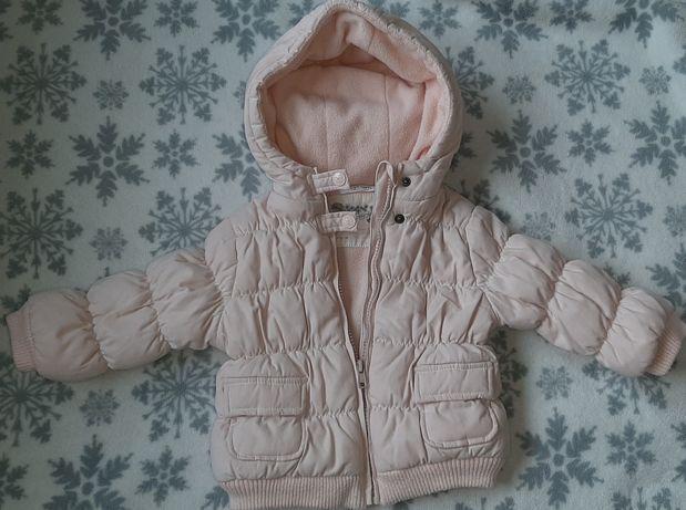 Francuska kurtka zimowa dla dziewczynki różowa 80