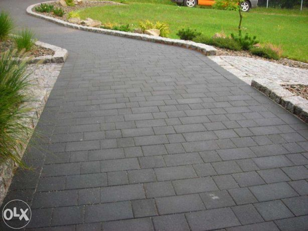 Transport GRATIS Kostka Bruk Prosty grafit brukowa granitowa betonowa
