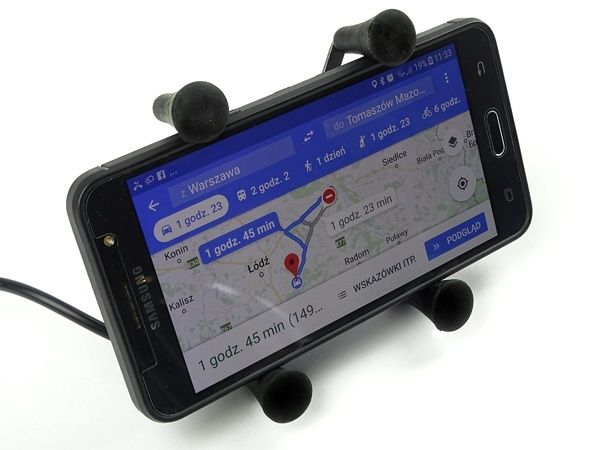 UCHWYT TELEFONU USB Motocyk navi motocyklowy USB TYPU RAM