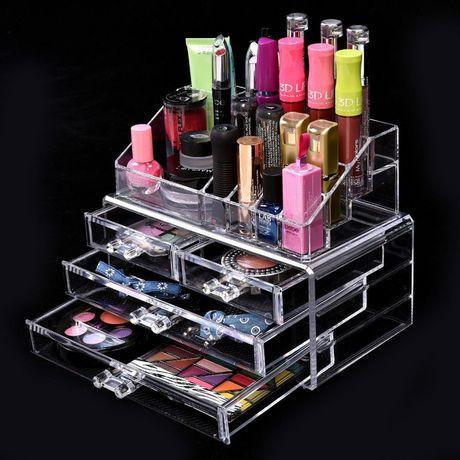 Настольный акриловый органайзер для косметики Cosmetic Storage Box 4