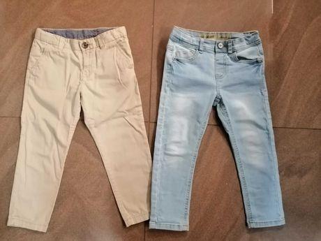 2x Spodnie eleganckie r. 110 H&M dżinsy dla chłopca chłopięce