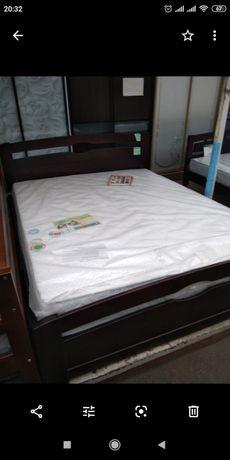 Кровать дерево ольха 200-160+ матрац