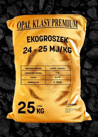 Węgiel ekogroszek 24-25 MJ - suchy, workowany. (opał/krusztwa/grysy)