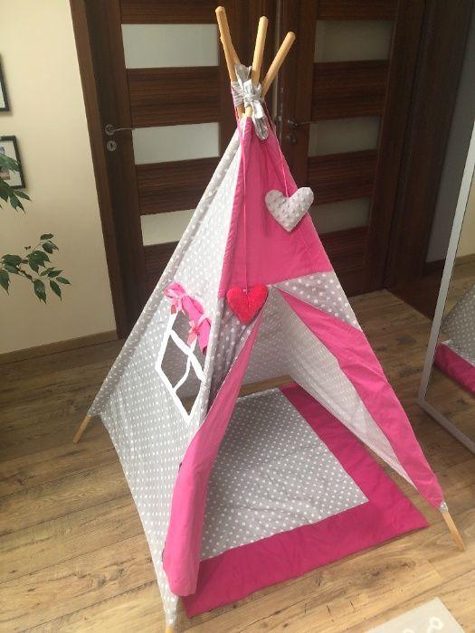 namiot dla dzieci TIPI wigwam MINKY + mata - b.dobry stan Krasne - image 1