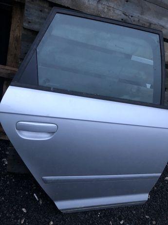 Drzwi prawe tylne srebrne audi a3 2010 rok LX7W