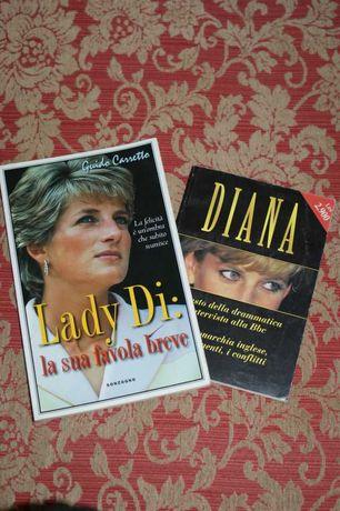 Książki księżna Diana, język włoski, Lady Di, Diana, książka