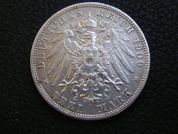3 марки 1909 А Пруссия