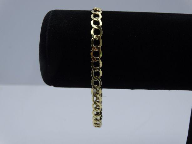 Piękna złota bransoletka pancerka P585 5,18g 21,5 LOMBARD66
