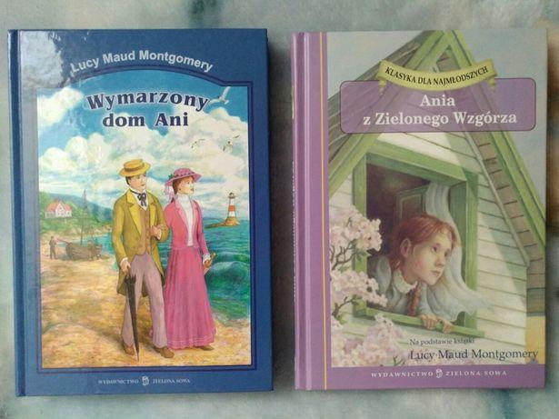 """Książki """"Ania z Zielonego Wzgórza"""" i """"Wymarzony dom Ani"""""""