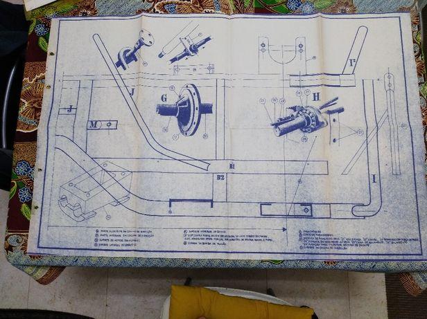Esquema fabrico chassis karting