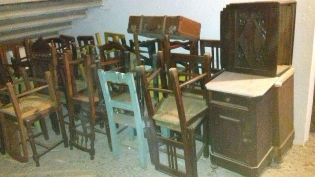 cadeiras alentejanas e mesas de cabeceira