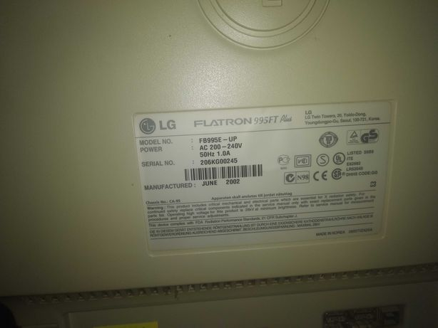 "LG Flatron 995FT Plus (19"")"