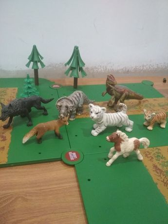 Shleih, шляйх, лисица, лошадка, зайчик, тигр, динозавры.