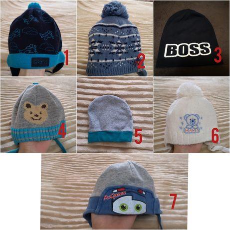 Продам шапки на мальчика от 0 до 2 лет