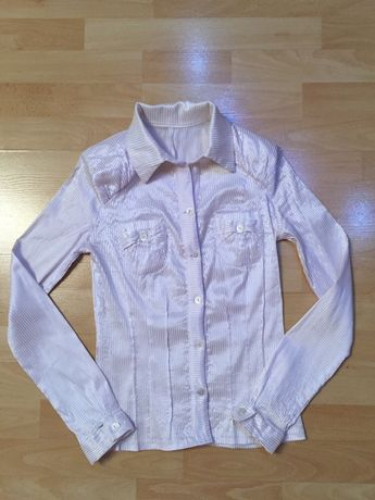 Блуза, біла блузка, рубашка для девочек раз 38-40