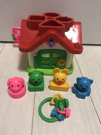 Сортер домик, развивающая игрушка.