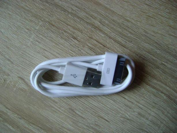 nowy kabel USB do iphona biały