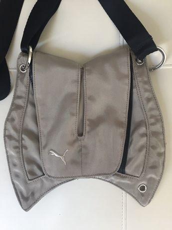 Saszetka torebka na ramię Puma metaliczna zieleń ortalion nowa
