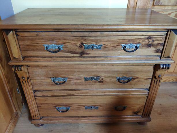 Drewniana komoda przedwojenna antyczna antyk vintage
