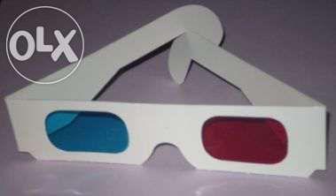 Oculos 3d vermelho/azul