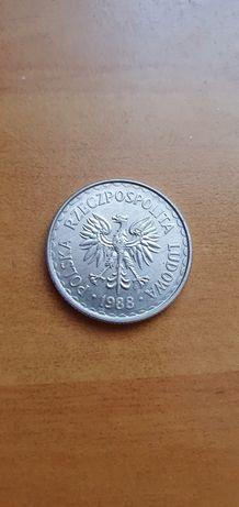 Moneta 1zł 1988r orzeł bez korony